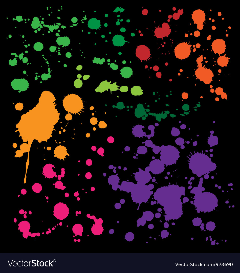 Splats preview vector | Price: 1 Credit (USD $1)