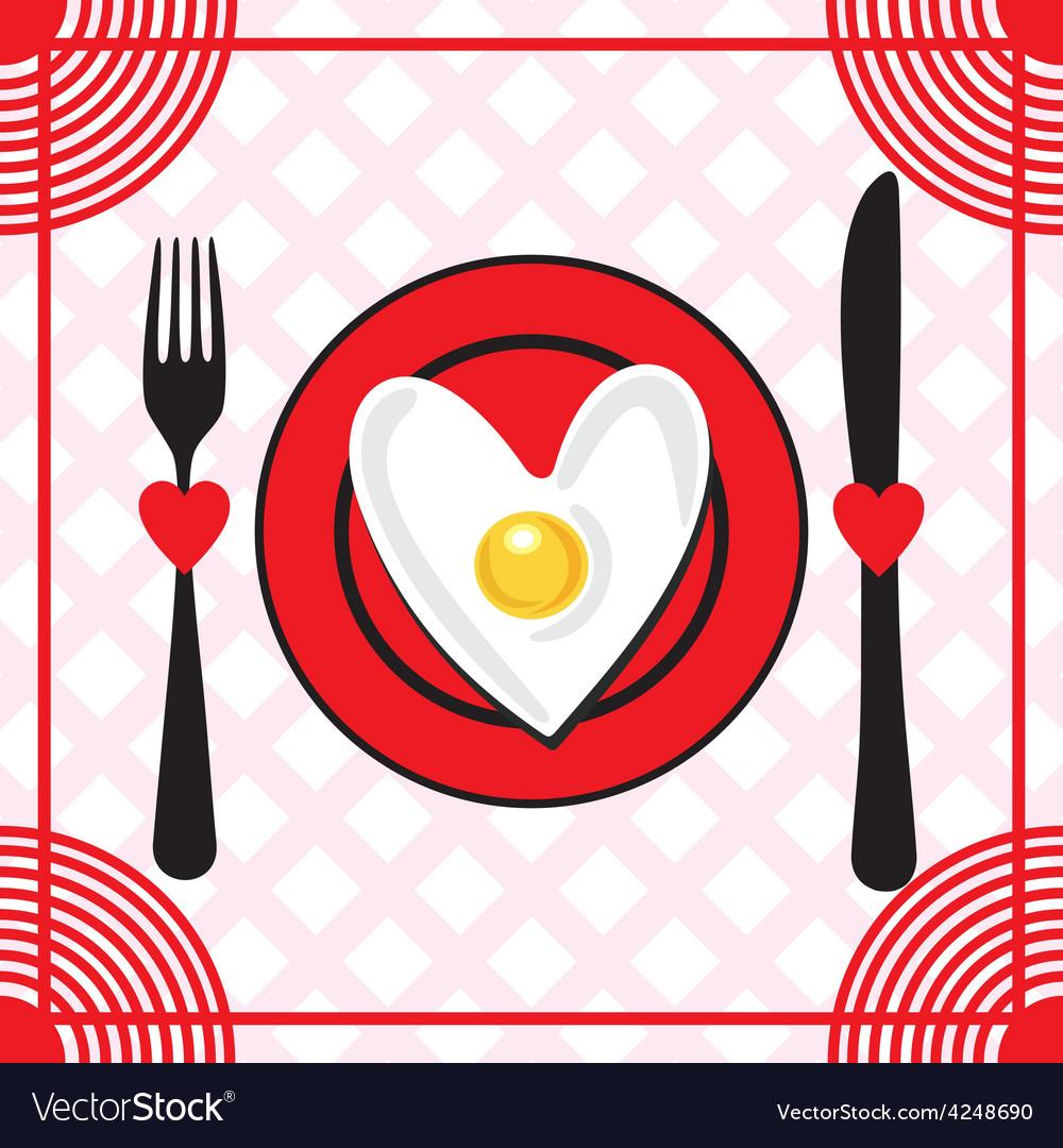 Valentines day menu vector | Price: 1 Credit (USD $1)