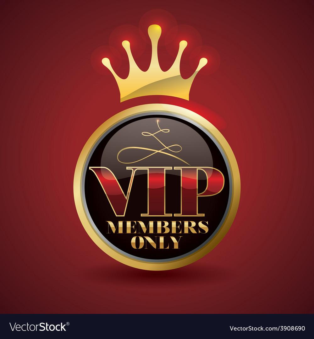 Vip member vector | Price: 1 Credit (USD $1)