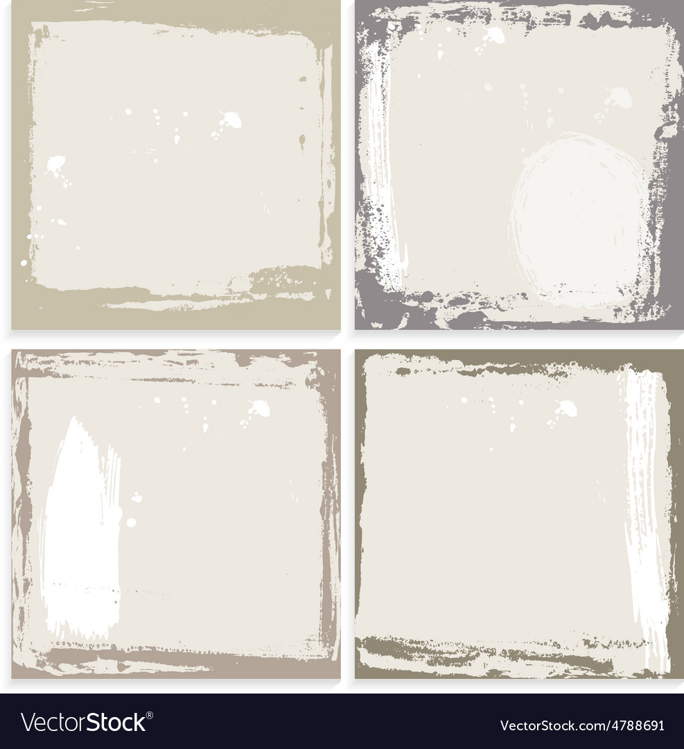 Abstract grunge frame set brown beige and white vector | Price: 1 Credit (USD $1)
