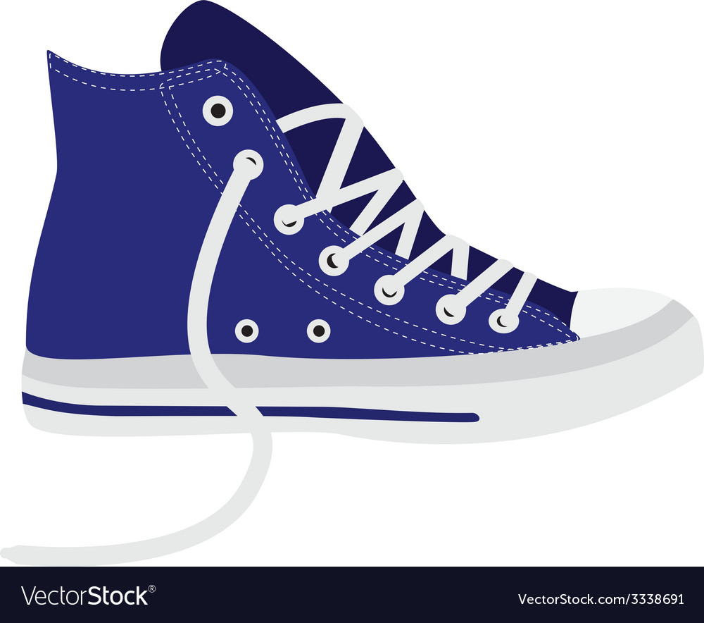 Blue sneakers vector | Price: 1 Credit (USD $1)