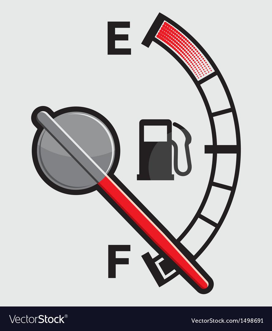 Car gas tank indicator vector   Price: 1 Credit (USD $1)