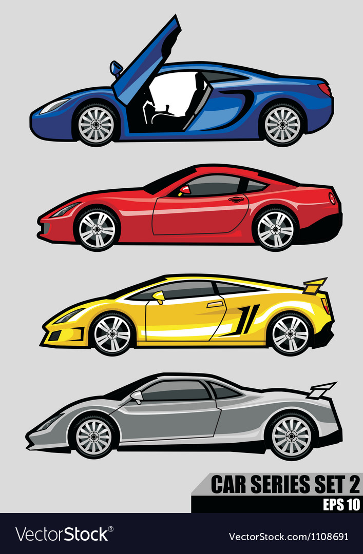 Cars series set 2 vector | Price: 3 Credit (USD $3)