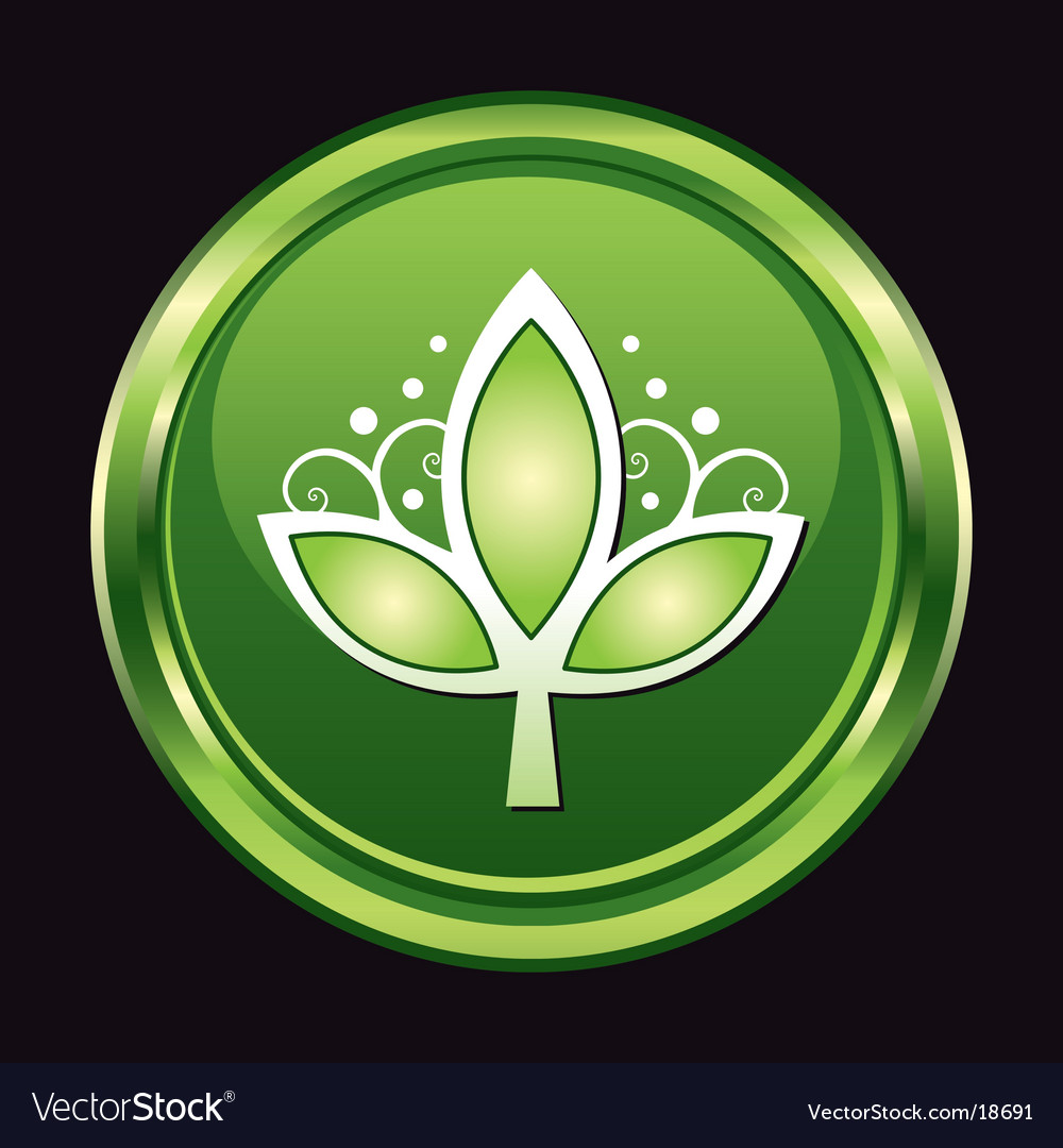 Chrome leaf button vector   Price: 1 Credit (USD $1)