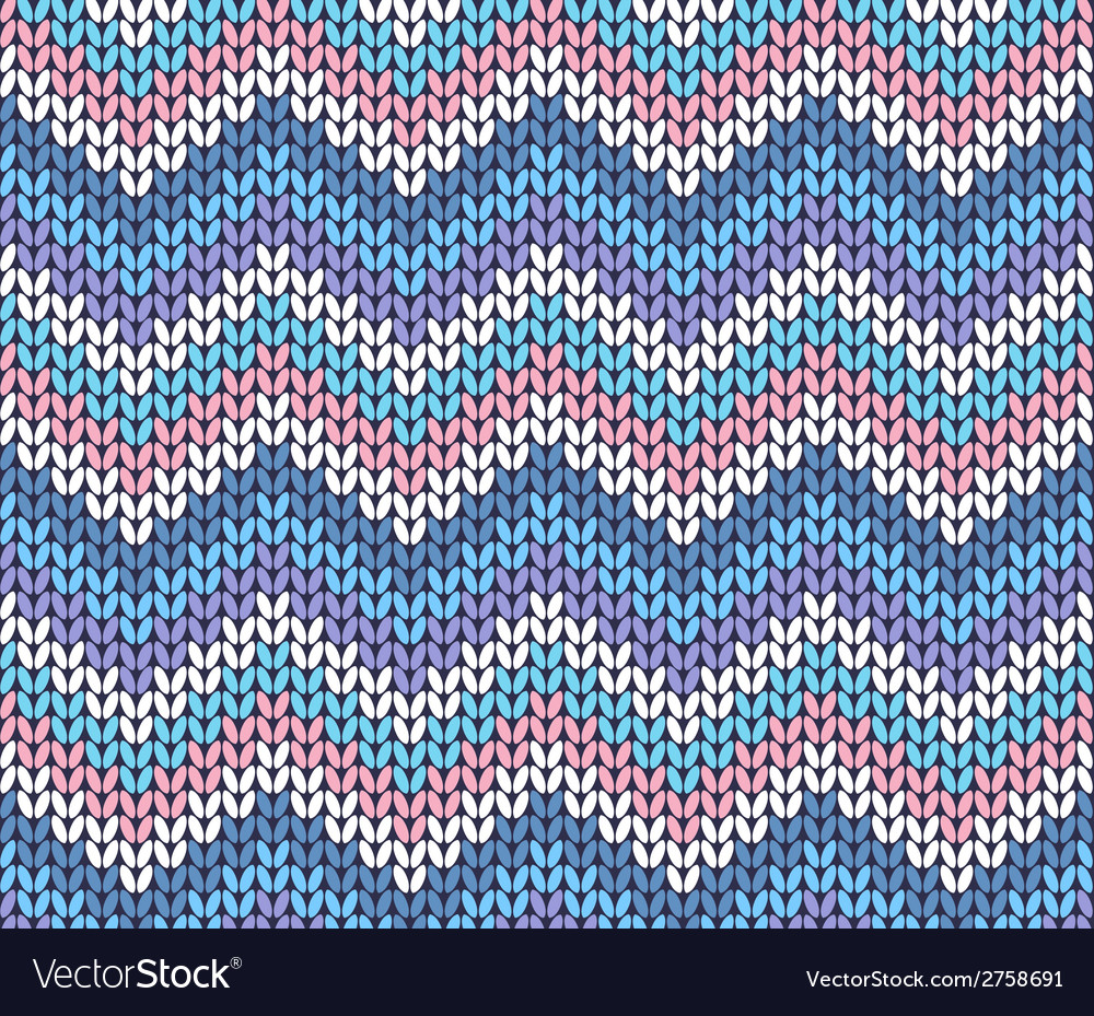 Fresh ethnic winter knitted abstract zigzag vector | Price: 1 Credit (USD $1)