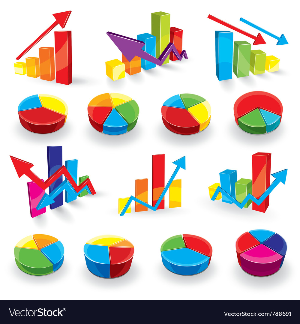 Graph set vector | Price: 3 Credit (USD $3)
