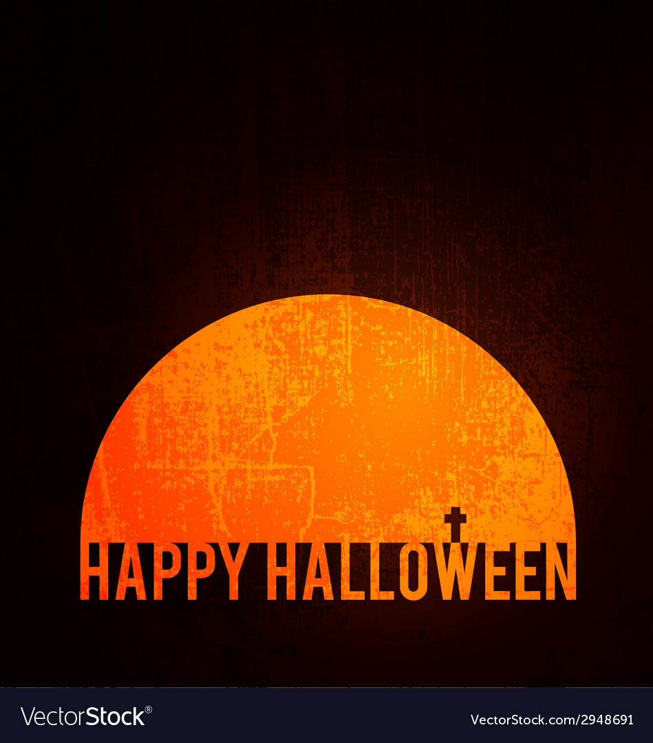 Happy halloween poster vector | Price: 1 Credit (USD $1)