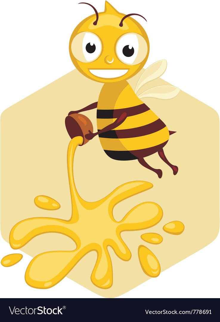 Honey bee vector | Price: 3 Credit (USD $3)