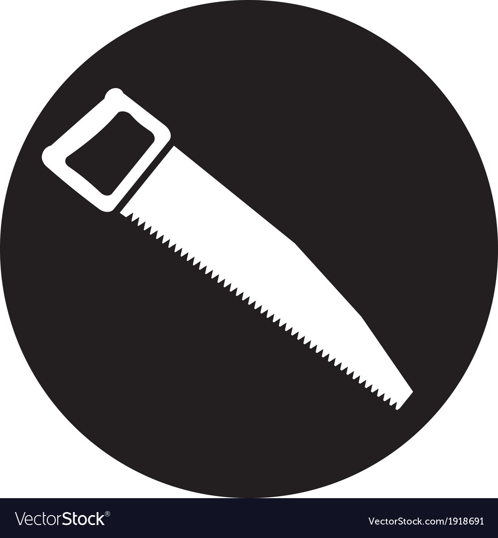 Icon of hand saw vector | Price: 1 Credit (USD $1)