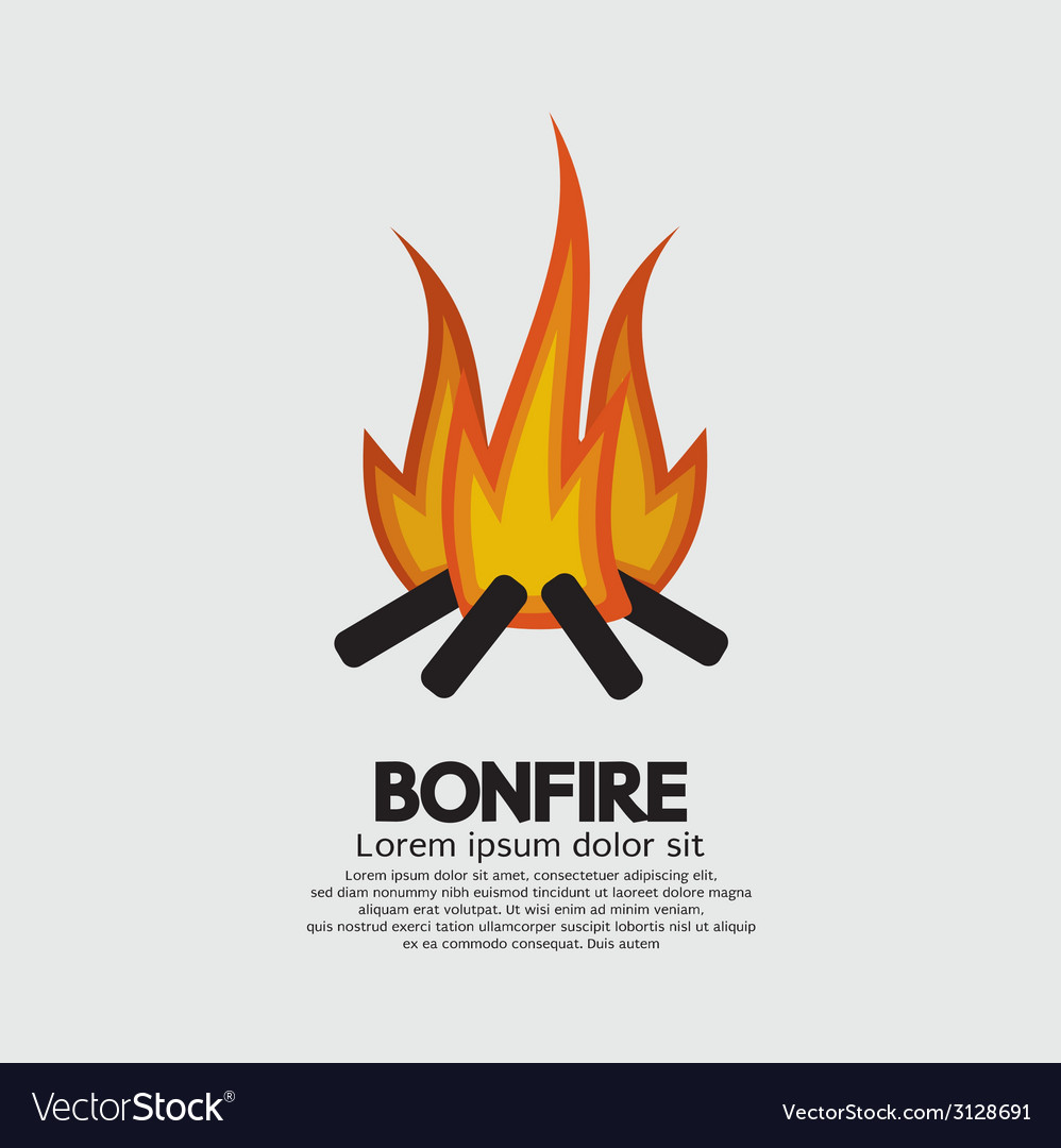 Isolated bonfire graphic vector | Price: 1 Credit (USD $1)