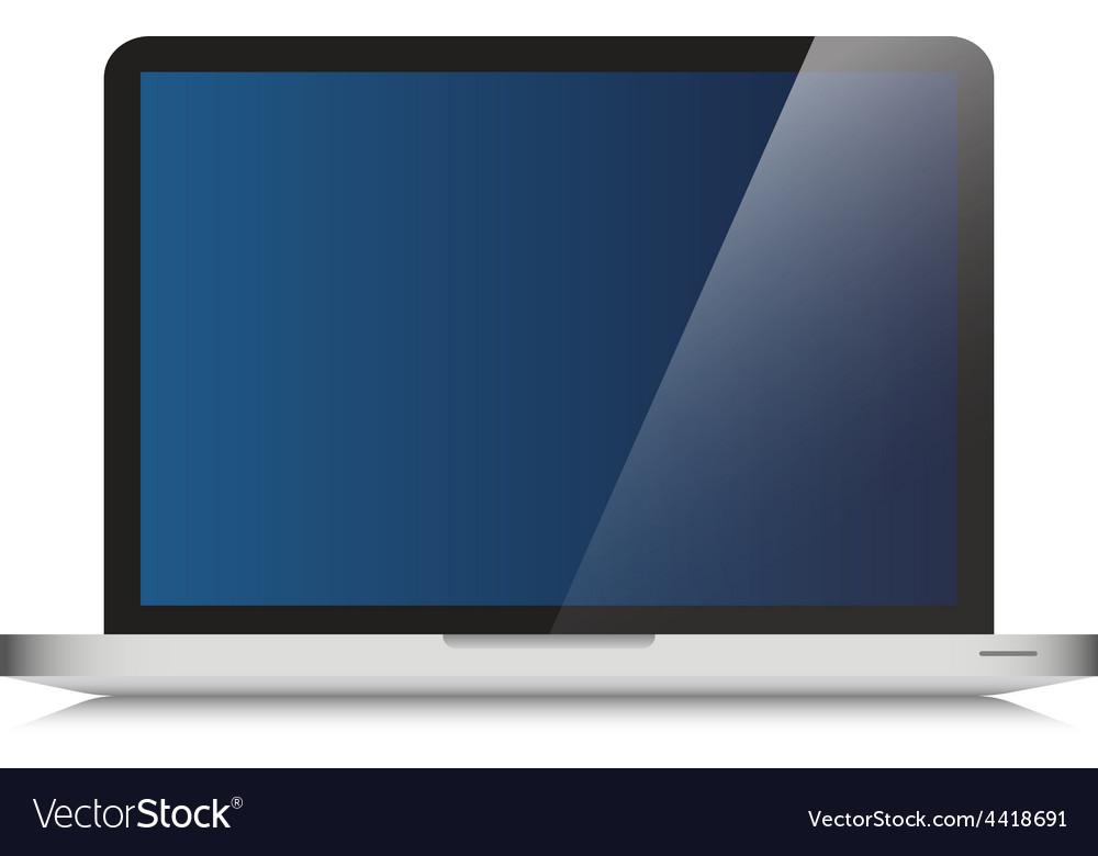Modern laptop computer glass screen vector | Price: 1 Credit (USD $1)