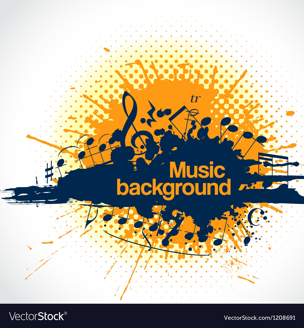 Musical background blot vector | Price: 1 Credit (USD $1)