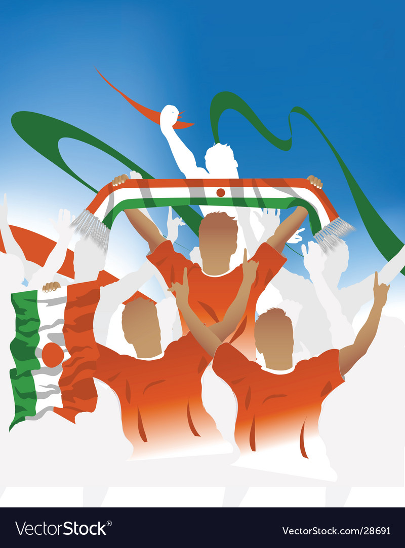Niger crowd vector | Price: 1 Credit (USD $1)