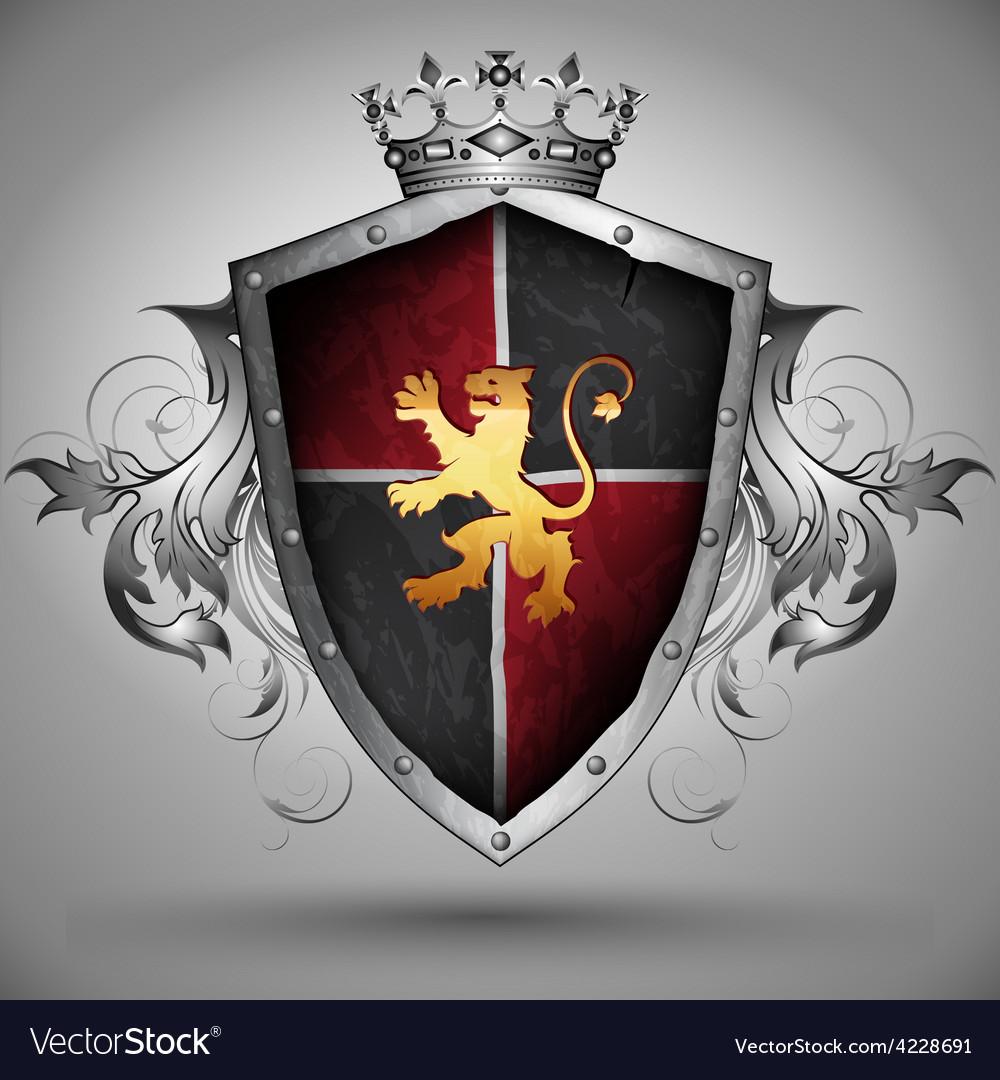 Ornamental shield vector   Price: 3 Credit (USD $3)