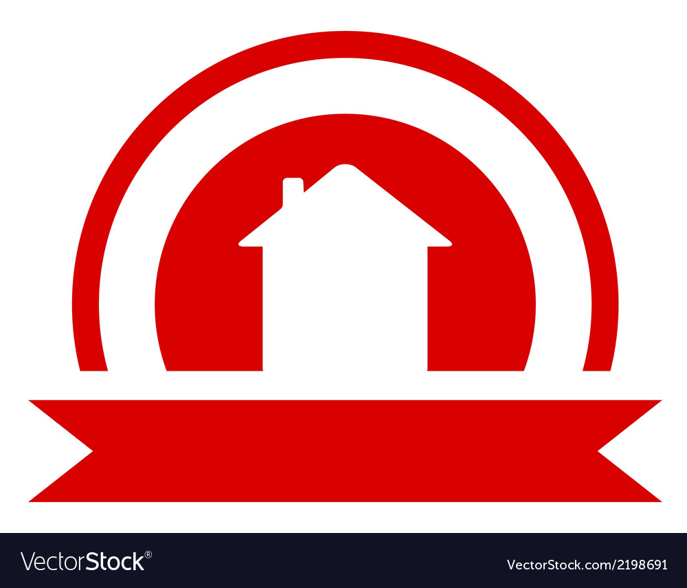 Red real estate symbol vector | Price: 1 Credit (USD $1)