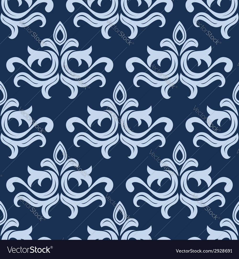 Retro light blue seamless pattern vector | Price: 1 Credit (USD $1)