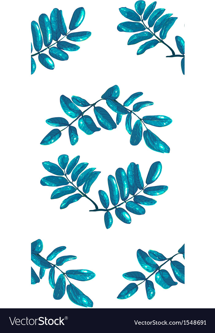 Rhombic blue leaves seamless pattern vector   Price: 1 Credit (USD $1)