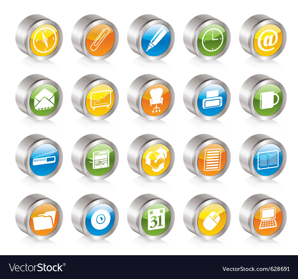 Simple office tools icons vector   Price: 1 Credit (USD $1)