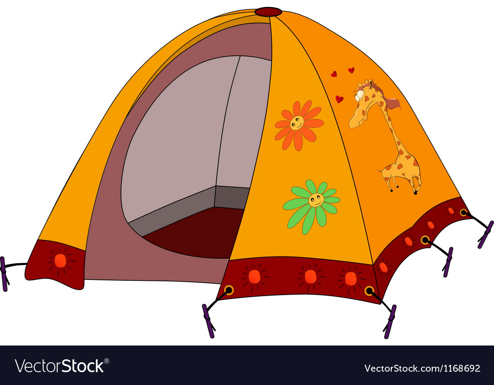 Childrens tourist tent vector | Price: 3 Credit (USD $3)