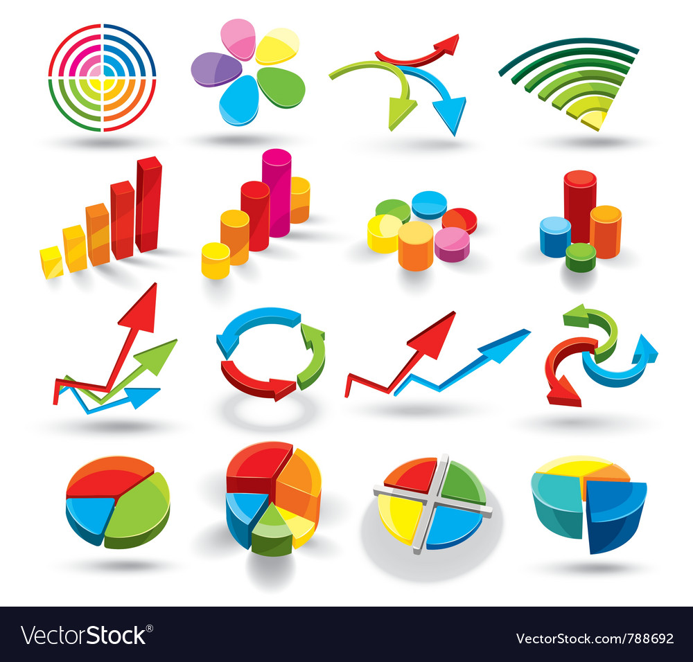 Colorful graphs vector | Price: 3 Credit (USD $3)