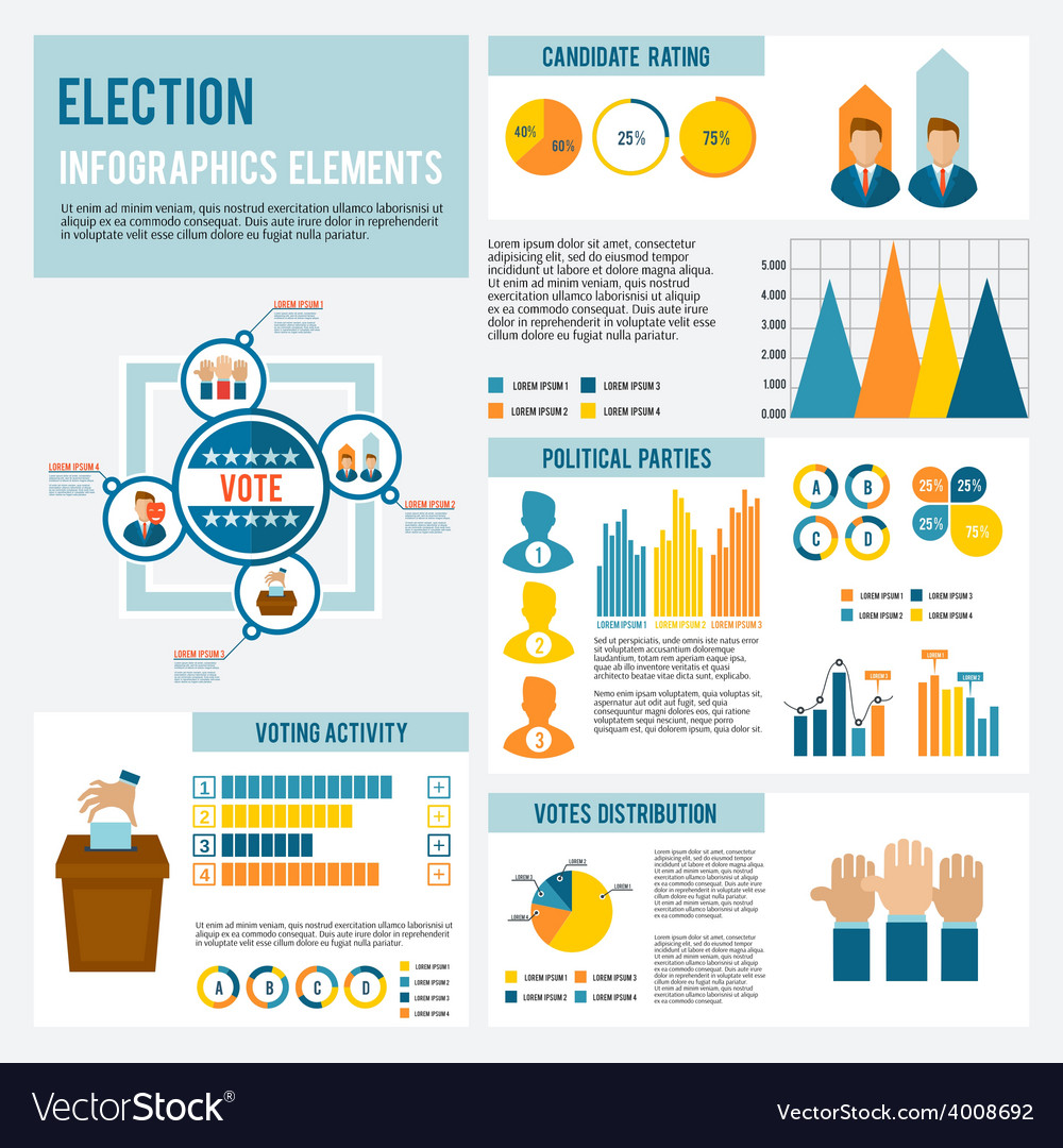 Election icon infographic vector | Price: 1 Credit (USD $1)