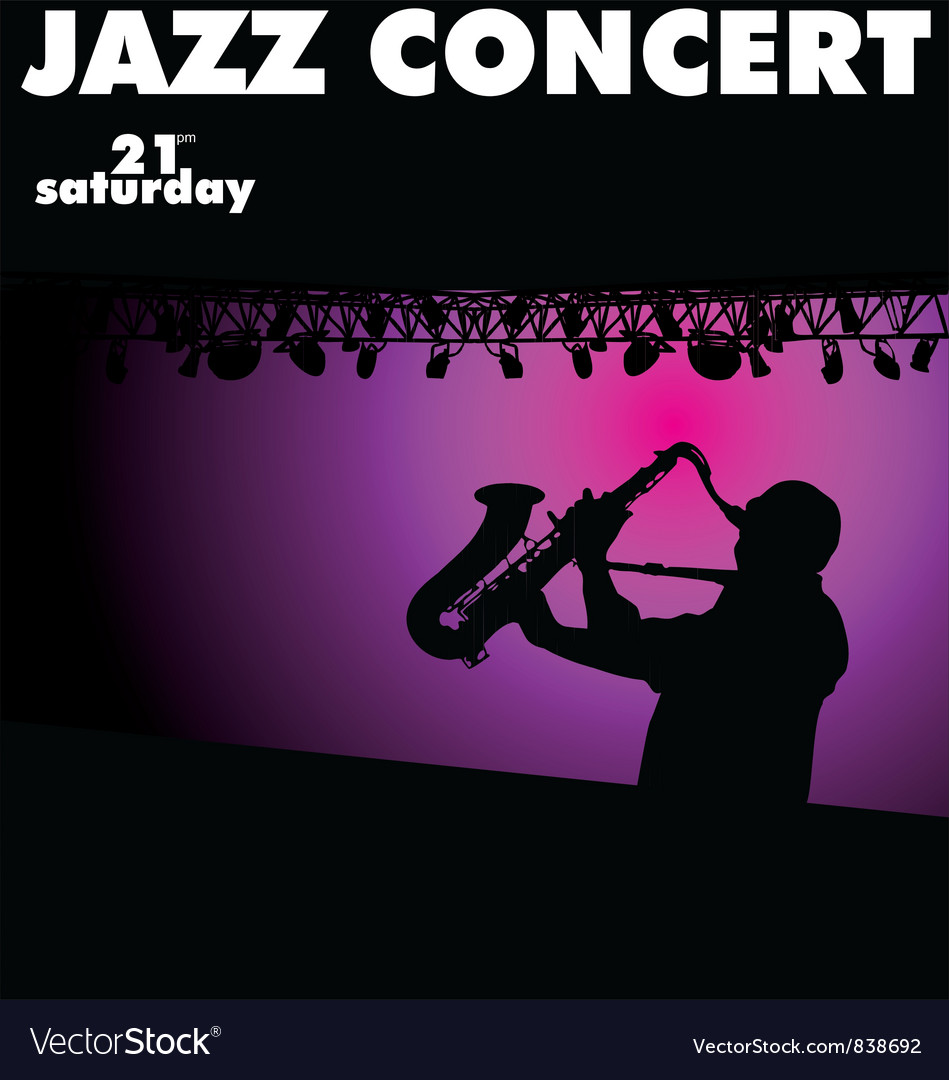 Jazz concert wallpaper vector