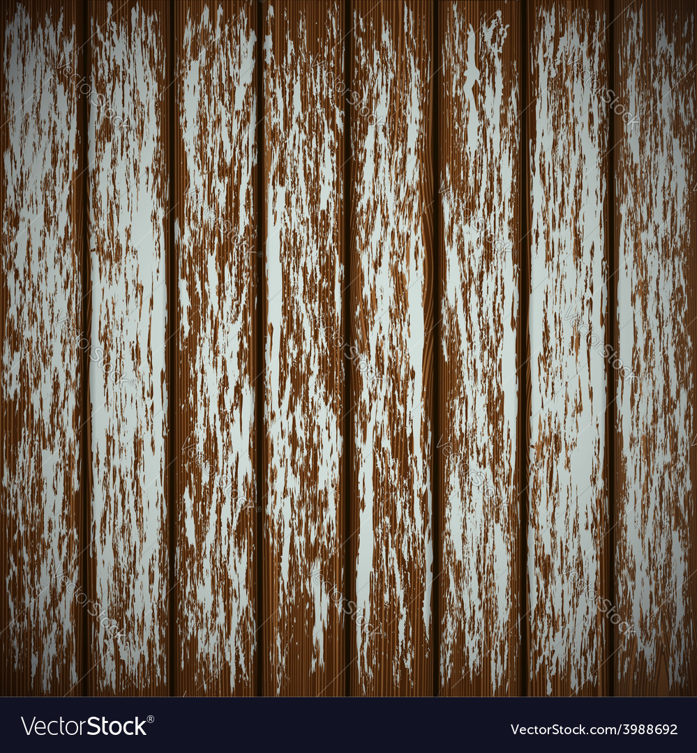 Old wooden wall with peeling paint vector | Price: 1 Credit (USD $1)