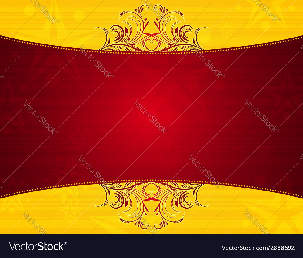 Red background with decorative ornaments vector | Price: 1 Credit (USD $1)