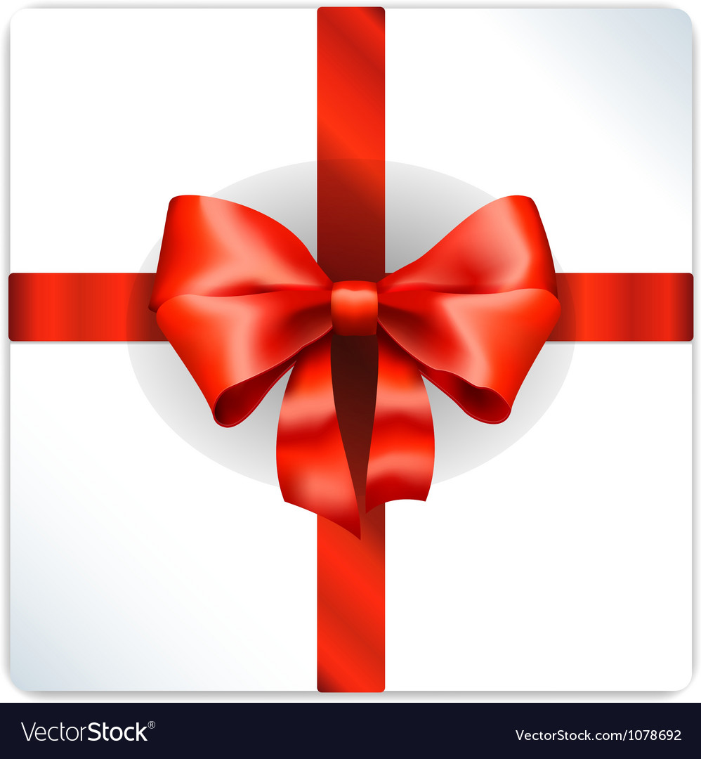 Red bow isolated vector | Price: 1 Credit (USD $1)