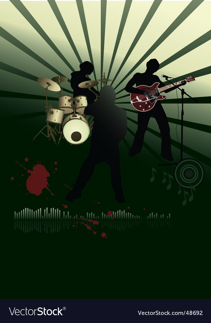 Rock festival band vector | Price: 1 Credit (USD $1)