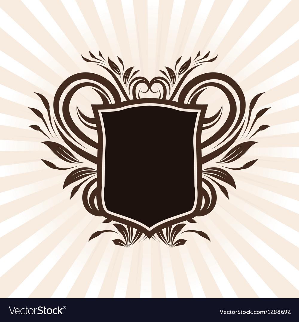 Shield swirl ornament vector | Price: 1 Credit (USD $1)