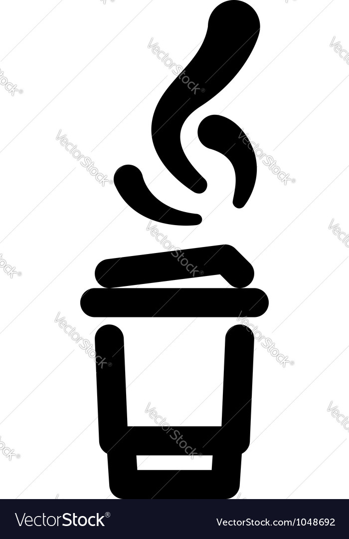 Takeout beverage sign vector | Price: 1 Credit (USD $1)