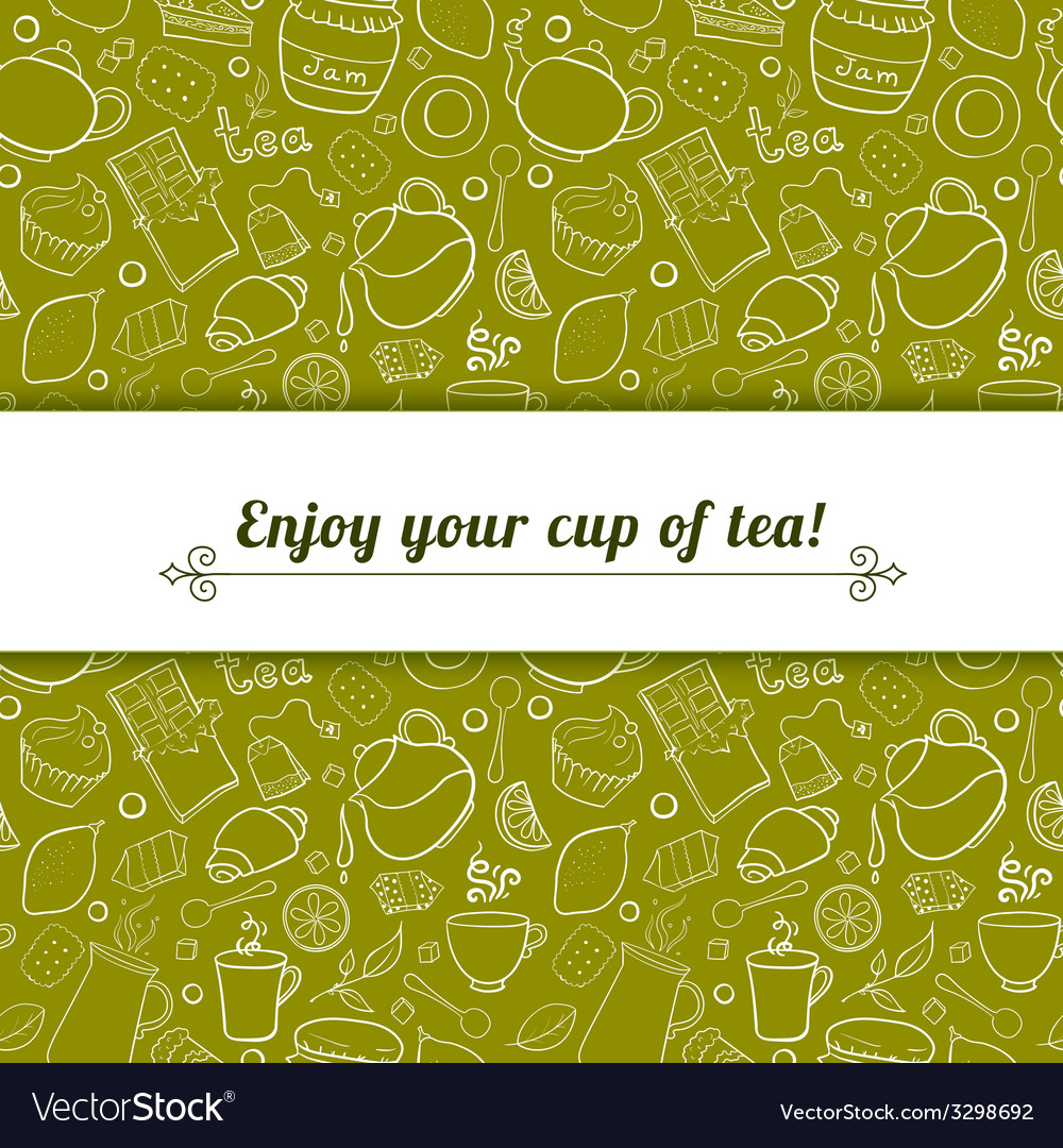 Tea and sweets background vector | Price: 1 Credit (USD $1)