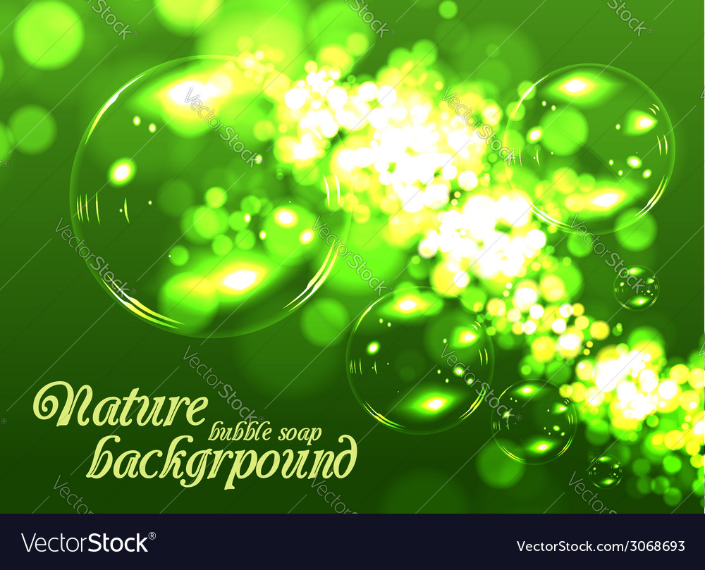 Bubble soap background vector | Price: 1 Credit (USD $1)