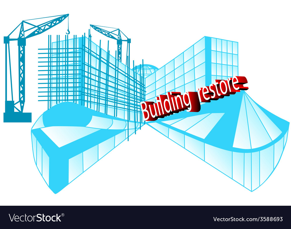 Building restore vector | Price: 1 Credit (USD $1)