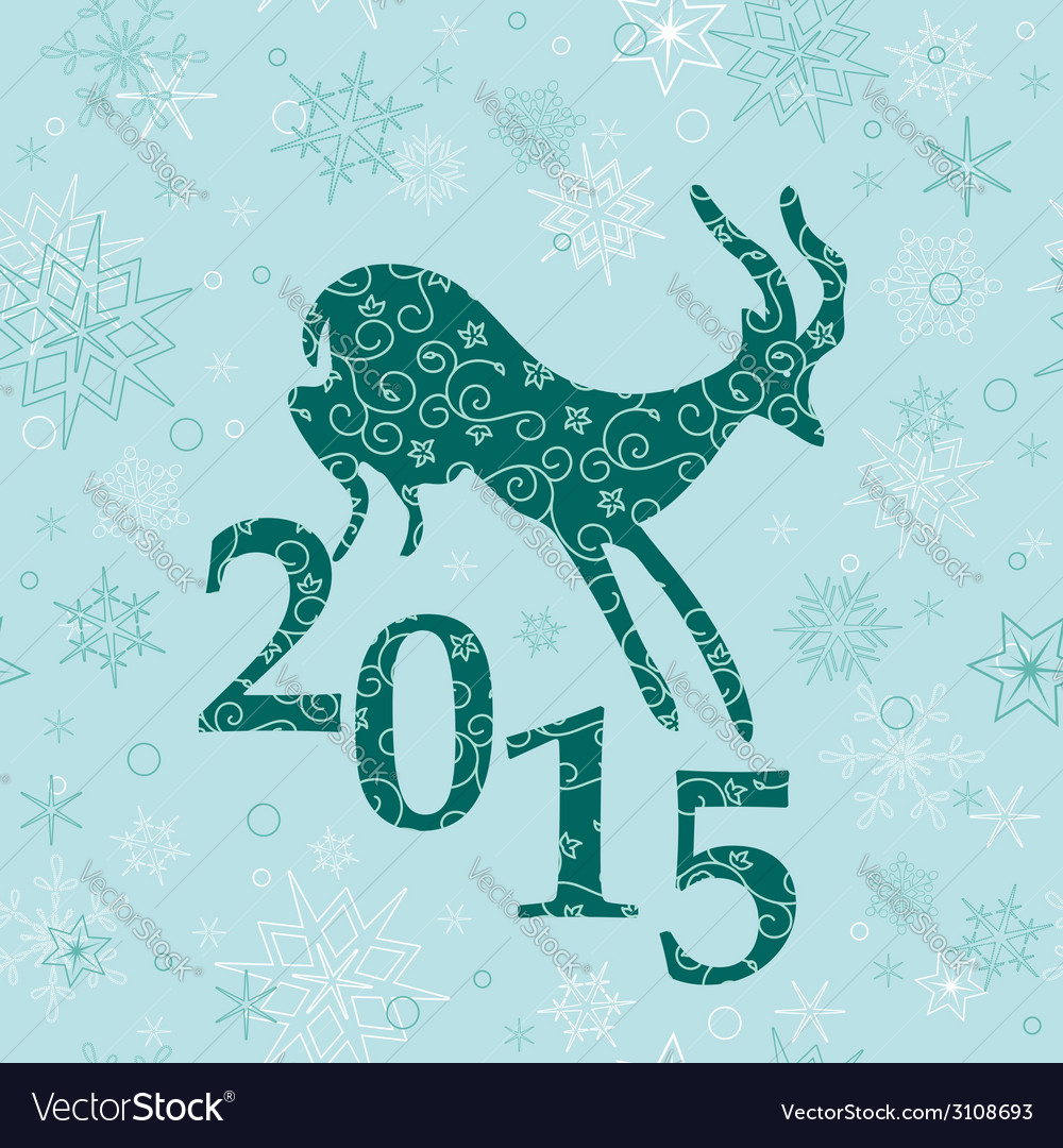 Christmas background with emerald goat vector | Price: 1 Credit (USD $1)