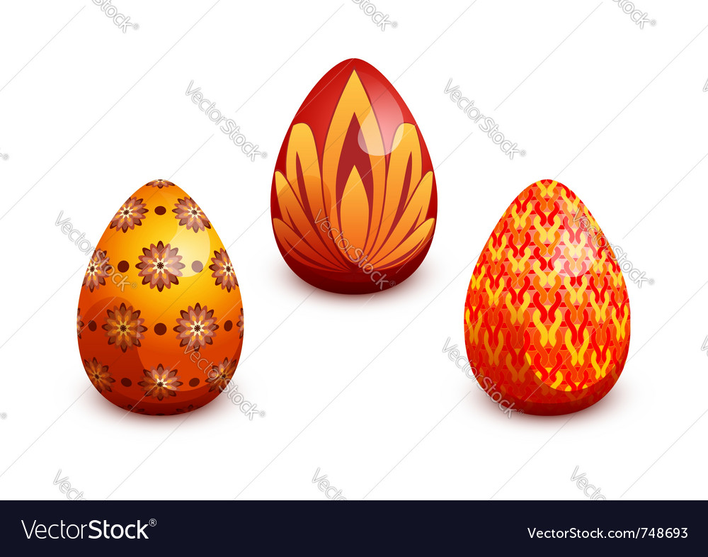Easter egg set vector | Price: 1 Credit (USD $1)