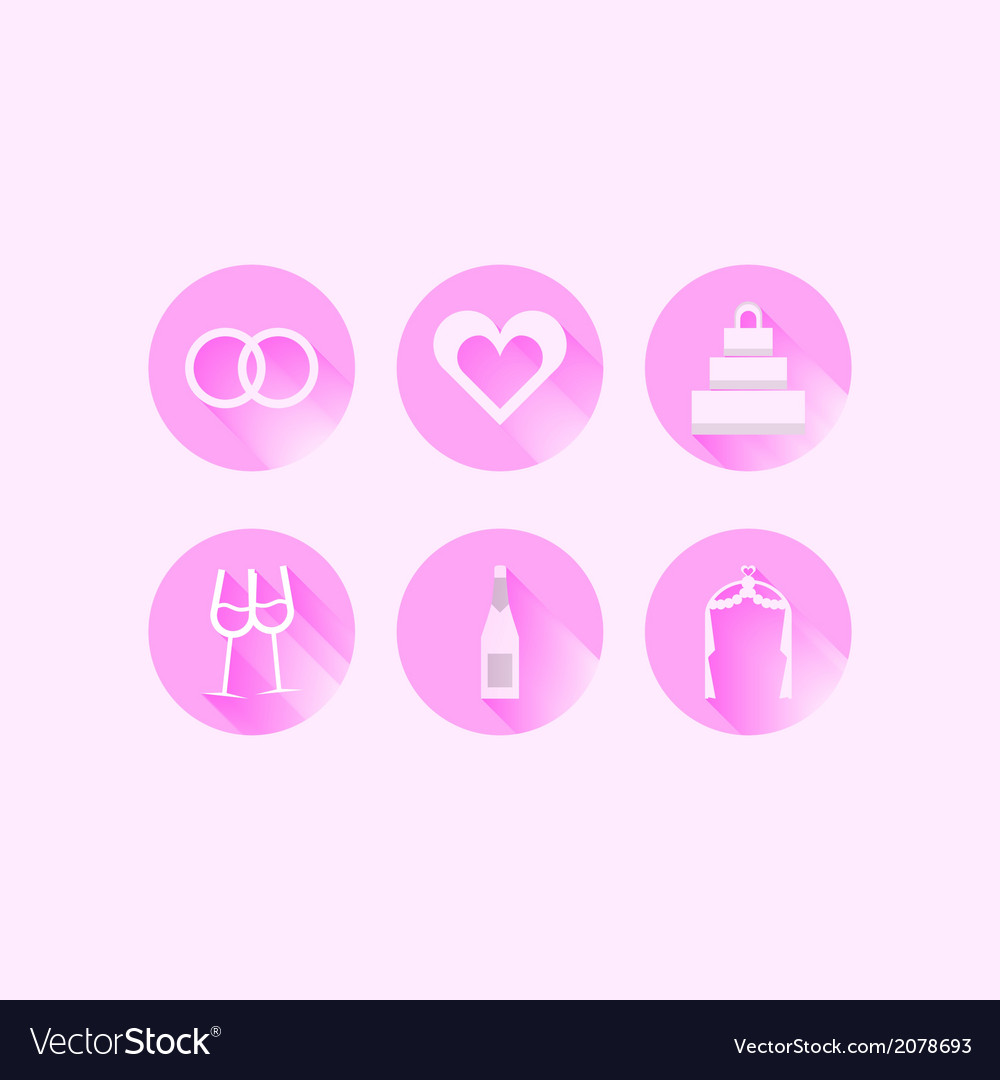 Icons for wedding vector | Price: 1 Credit (USD $1)
