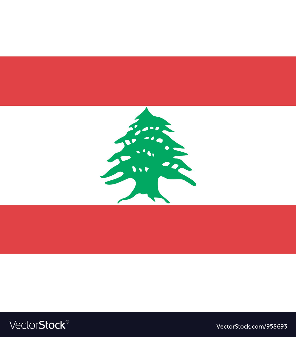 Lebanese flag vector | Price: 1 Credit (USD $1)