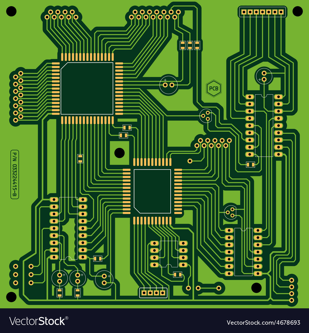 Printed circuit board vector | Price: 1 Credit (USD $1)