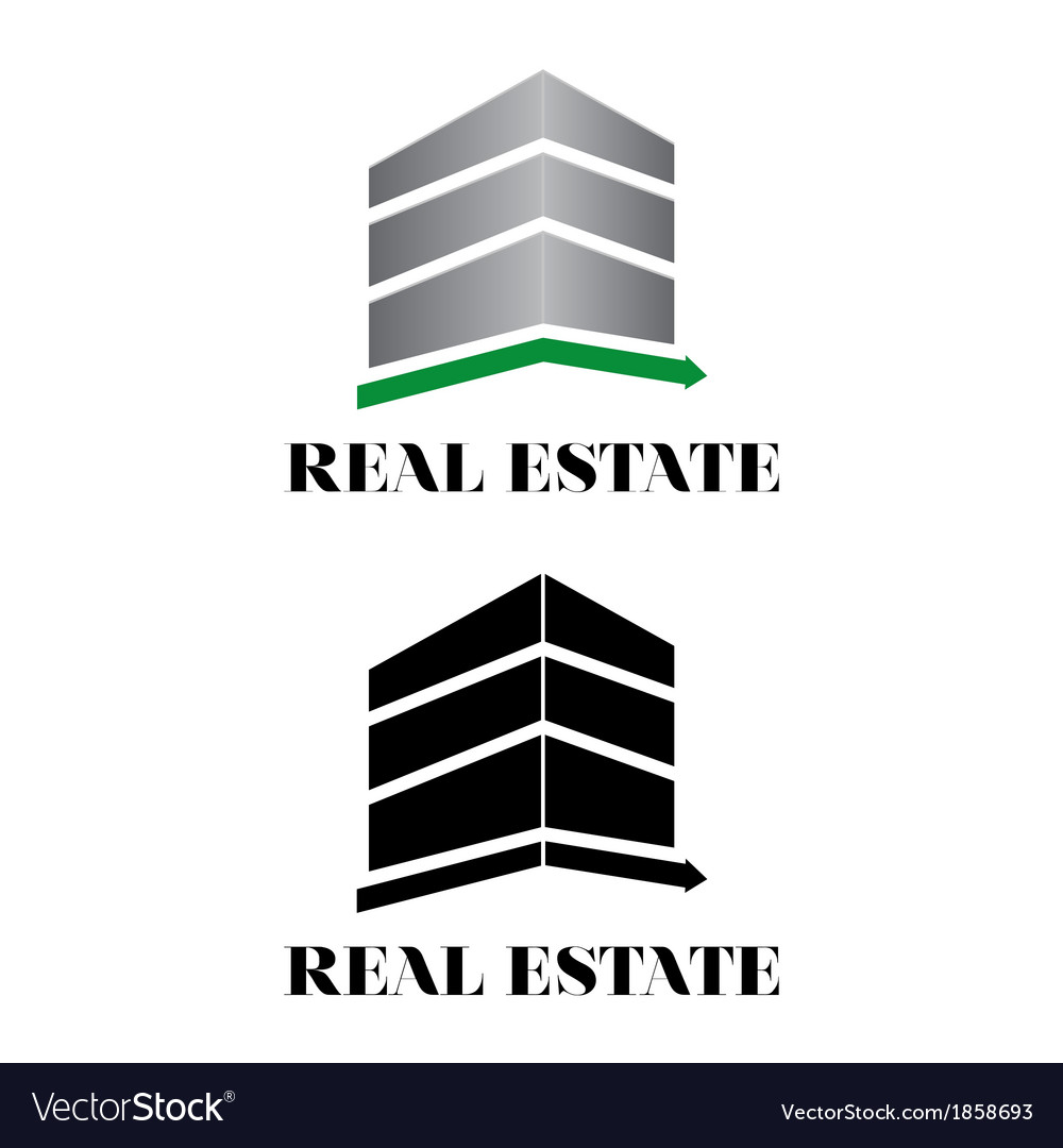 Real estate building logo vector | Price: 1 Credit (USD $1)