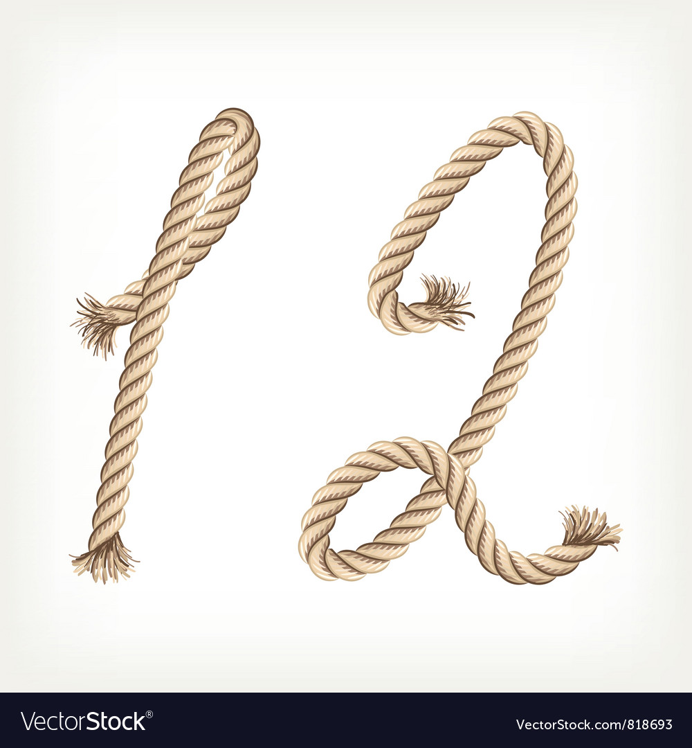 Rope digits vector | Price: 1 Credit (USD $1)