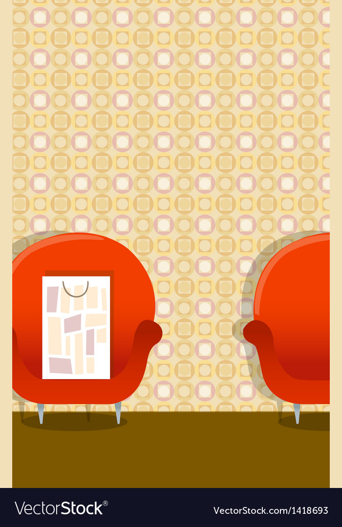 Shopping bag on arm chair vector | Price: 1 Credit (USD $1)