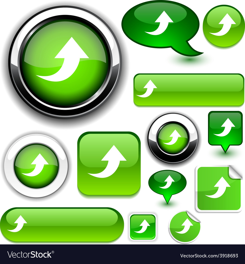 Upload green signs vector | Price: 1 Credit (USD $1)
