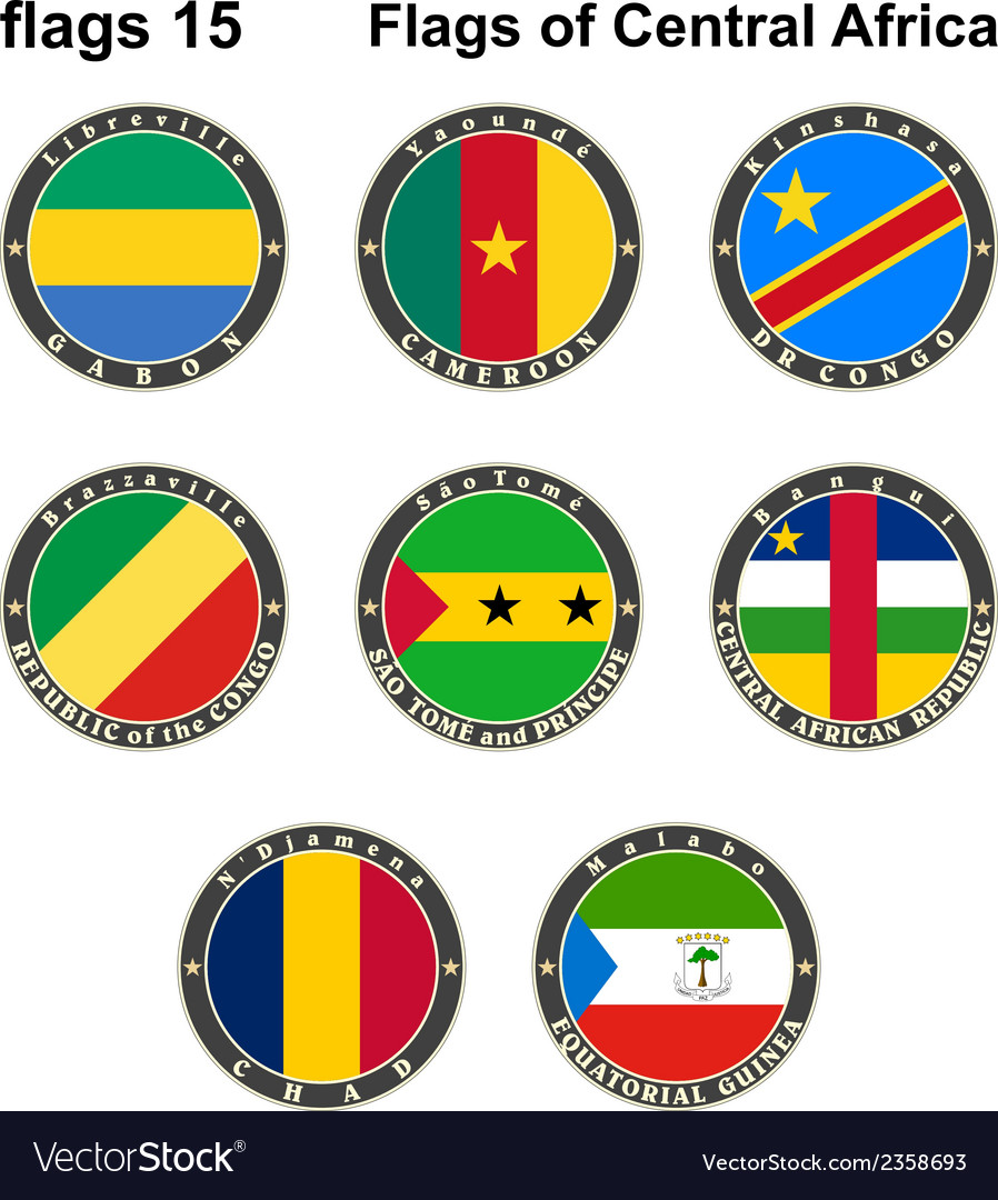 World flags central africa vector | Price: 1 Credit (USD $1)