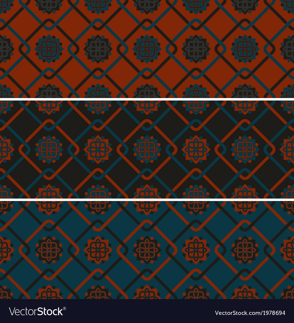 3 seamless patterns vector | Price: 1 Credit (USD $1)