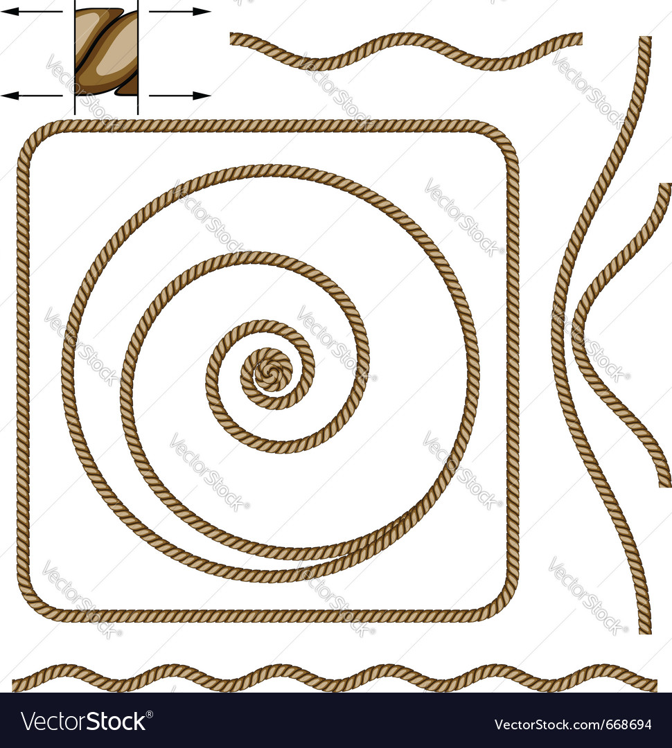 Abstract beige rope vector | Price: 1 Credit (USD $1)