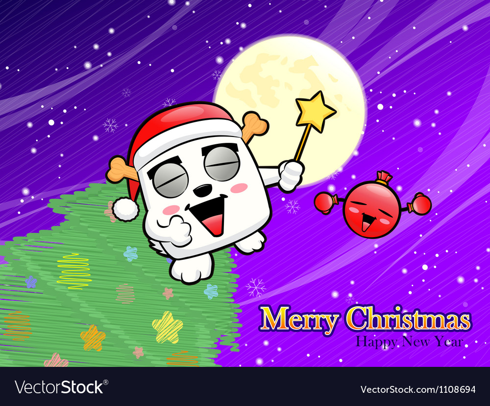 Christmas card fun dancing with the bomb vector | Price: 1 Credit (USD $1)