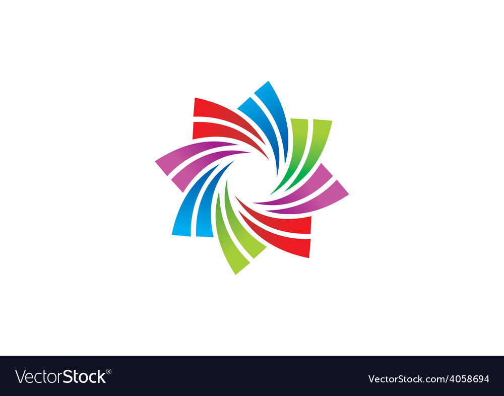 Circular swirl business logo vector | Price: 1 Credit (USD $1)