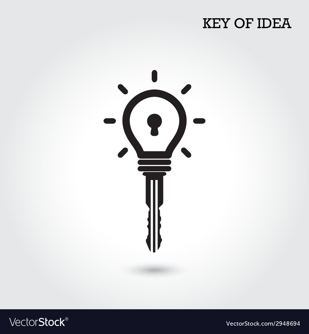 Creative light bulb idea concept with padlock vector | Price: 1 Credit (USD $1)